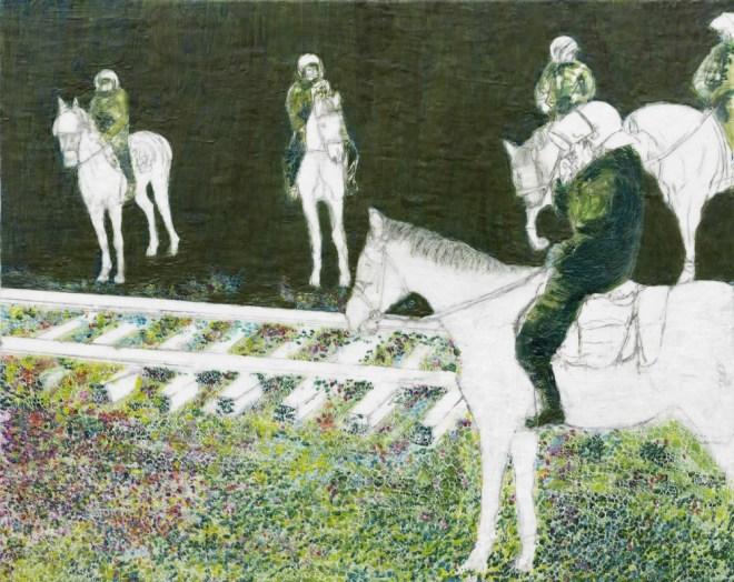 Castor, Paraffin und Öl auf Nessel, 70 x 100 cm