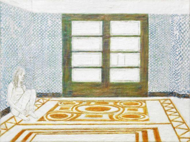 No exit, Paraffin und Öl auf Papier, 60 x 80 cm