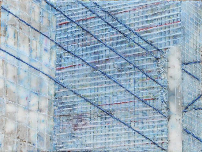Chroniken 14, Paraffin und Öl auf Papier, 30 x 40 cm