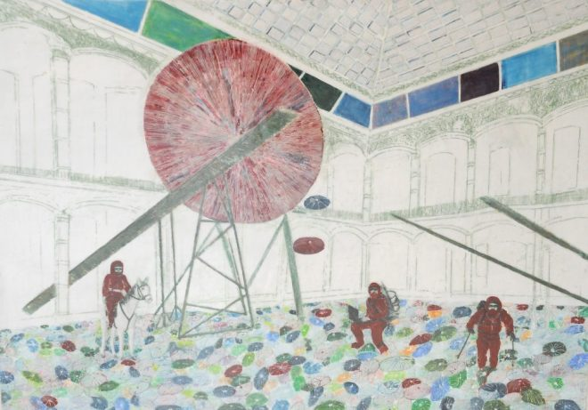 Kunst entdecken mit Anish Kapoor, Paraffin und Öl auf Pappe, 107 x 150 cm