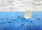 schwere See 1, Paraffin und Öl auf Pappe, 90 x 140 cm