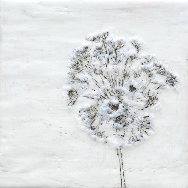 Lost in translation 5, Paraffin und Öl auf Nessel, 20 x 20 cm, 2016