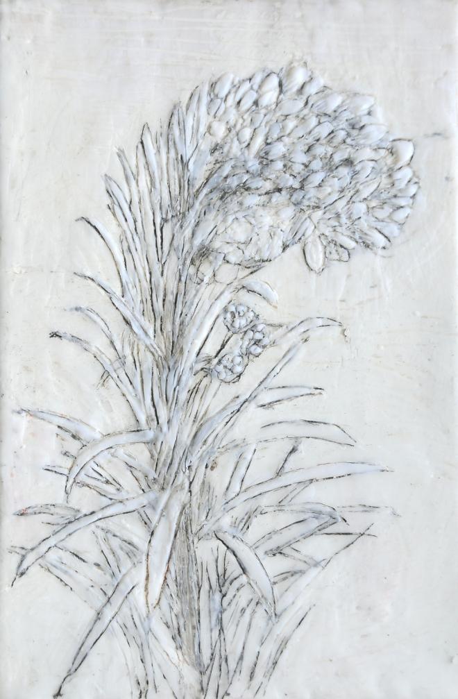 Lost in translation 7, Paraffin und Öl auf Nessel, 30 x 20 cm, 2016
