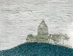 Havelland | Burg Plau, Paraffin und Acryl auf Pappe, 70 x 100 cm